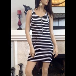 🎉NWOT Michael Kors Navy and White Striped Dress